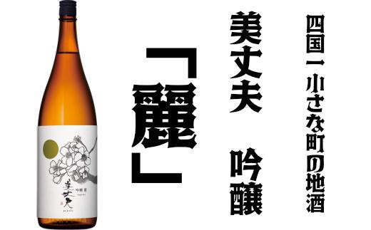 高知県田野町のふるさと納税 【四国一小さな町の地酒】美丈夫 吟醸 麗
