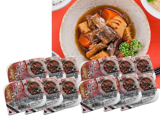 三陸食堂 たらと野菜の黒酢煮1.44kg(120g×12個)【電子レンジOK】