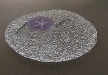 【はとやまがらず】手づくりのガラス製小皿 2枚セット(工芸品)