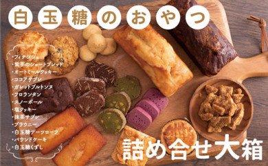 白玉糖のおやつ 詰め合せ缶 大箱 <焼菓子 クッキー サブレ スノーボール フロランタン>