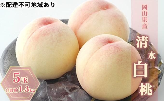 ●先行予約受付●岡山県産 清水 白桃 大玉5玉(1玉約270g)