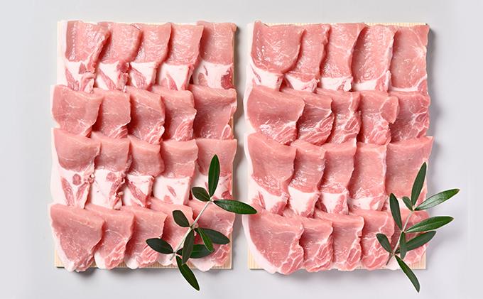 オリーブ豚ロース焼肉用 1200g(600g×2)