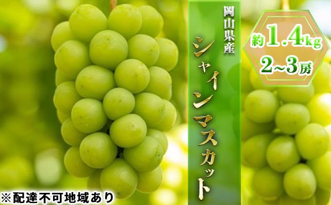 岡山県産 シャインマスカット2房(1房約700g)【配達不可:離島】