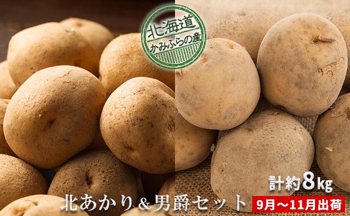 新じゃがいも2種食べ比べセット計約8kg≪北海道上富良野産≫