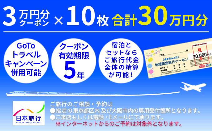 日本旅行 地域限定旅行クーポン【300,000円分】