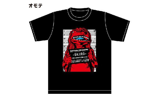 アメコミ風ガジロウTシャツ赤