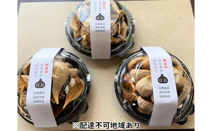無添加!ふじもとファームの熟成黒にんにく(100g×3p)