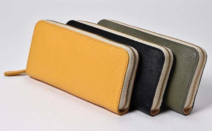 WH-02 本革ラウンドファスナー財布
