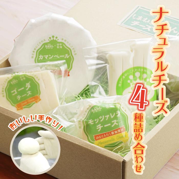 ナチュラルチーズ4種詰め合わせ(ストリング・ゴーダ・カマンベール・のどぐろだし醤油漬けモッツアレラ)