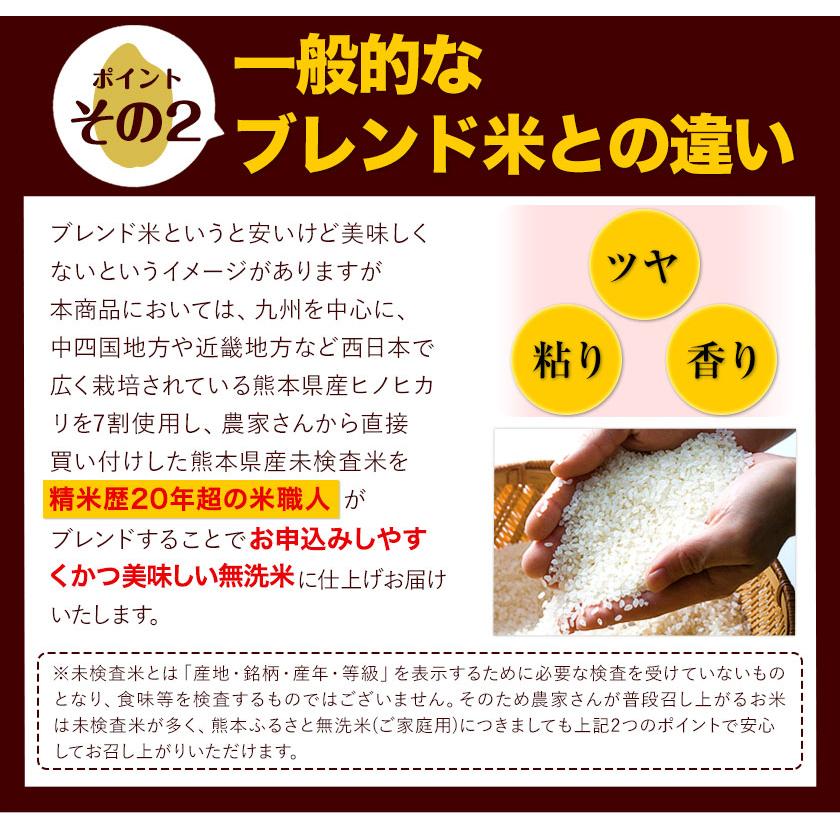 熊本県御船町のふるさと納税 ご家庭用 熊本ふるさと無洗米12kg 熊本県産 無洗米 12kg 御船町 《7月下旬-9月上旬頃より順次出荷》