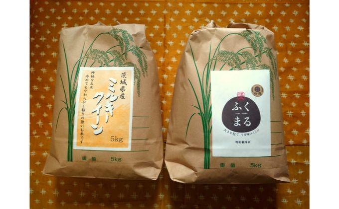☆令和二年産☆茨城県お米2種食べ比べ10kgセット(5kg×2)(3)ミルキークイーン・特選ふくまる