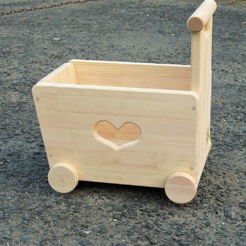 大阪府泉佐野市のふるさと納税 020C065 手作り木製 手押し車 片面透かし3型