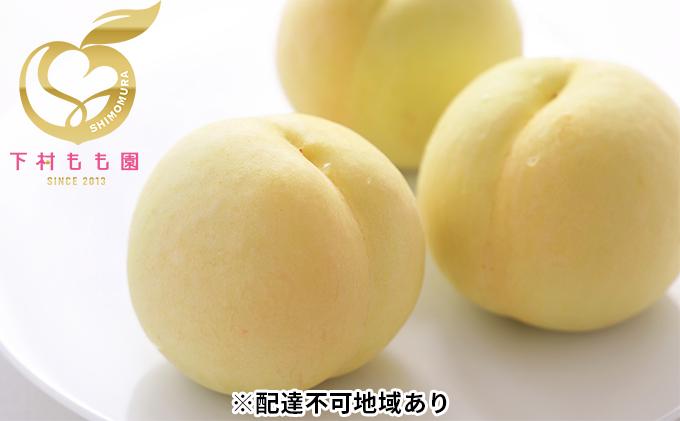 下村もも園 清水 白桃 約1.5kg(4~7玉)贈答箱【配達不可:沖縄・離島】