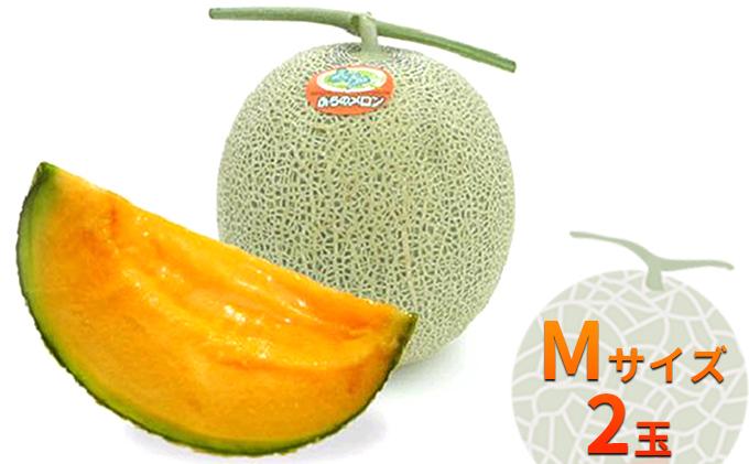 ふらの赤肉メロン(秀品)Mサイズ2玉セット