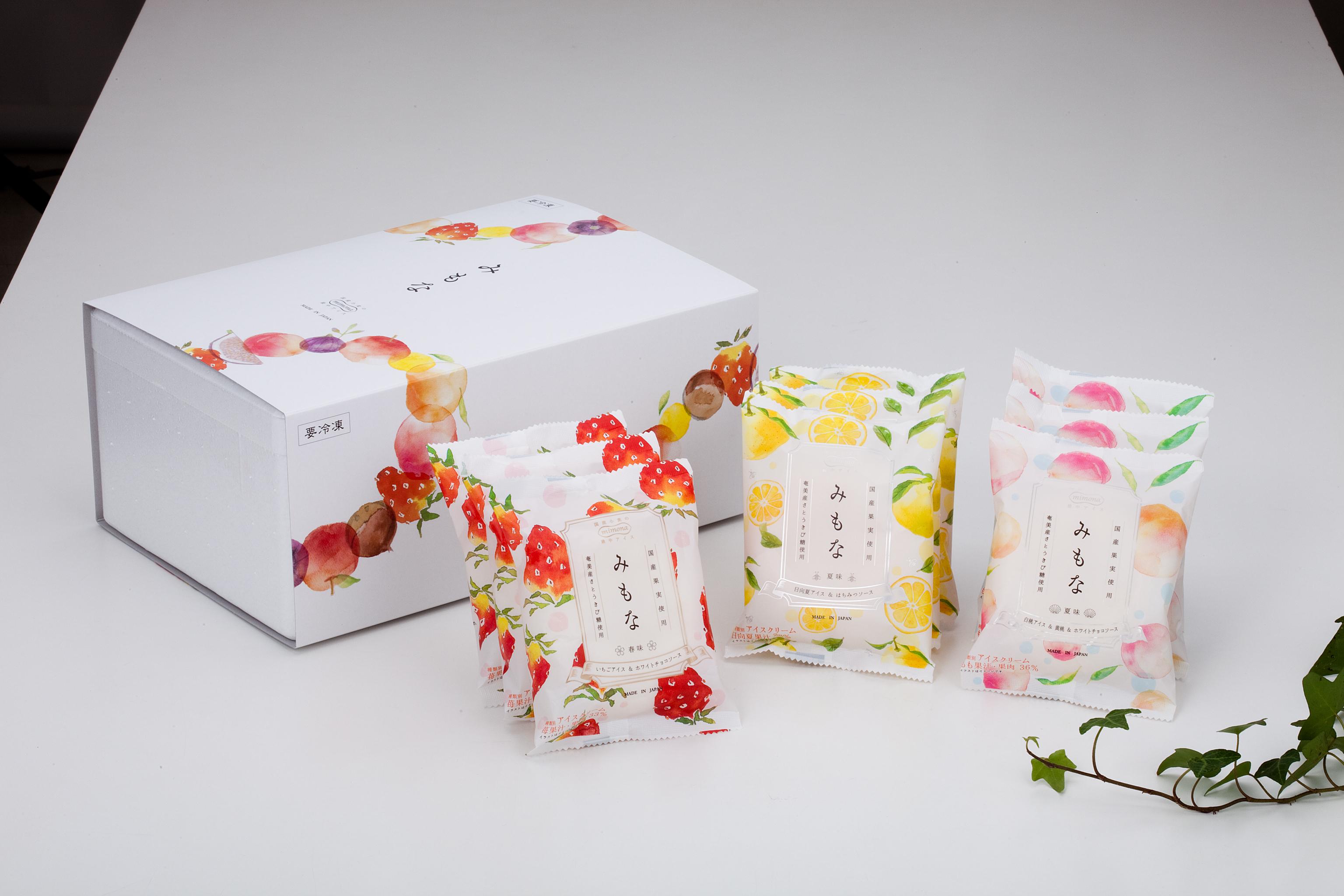 新潟県燕市のふるさと納税 国産果実のアイスモナカ「みもな」セット (3種9個セット) CS011002