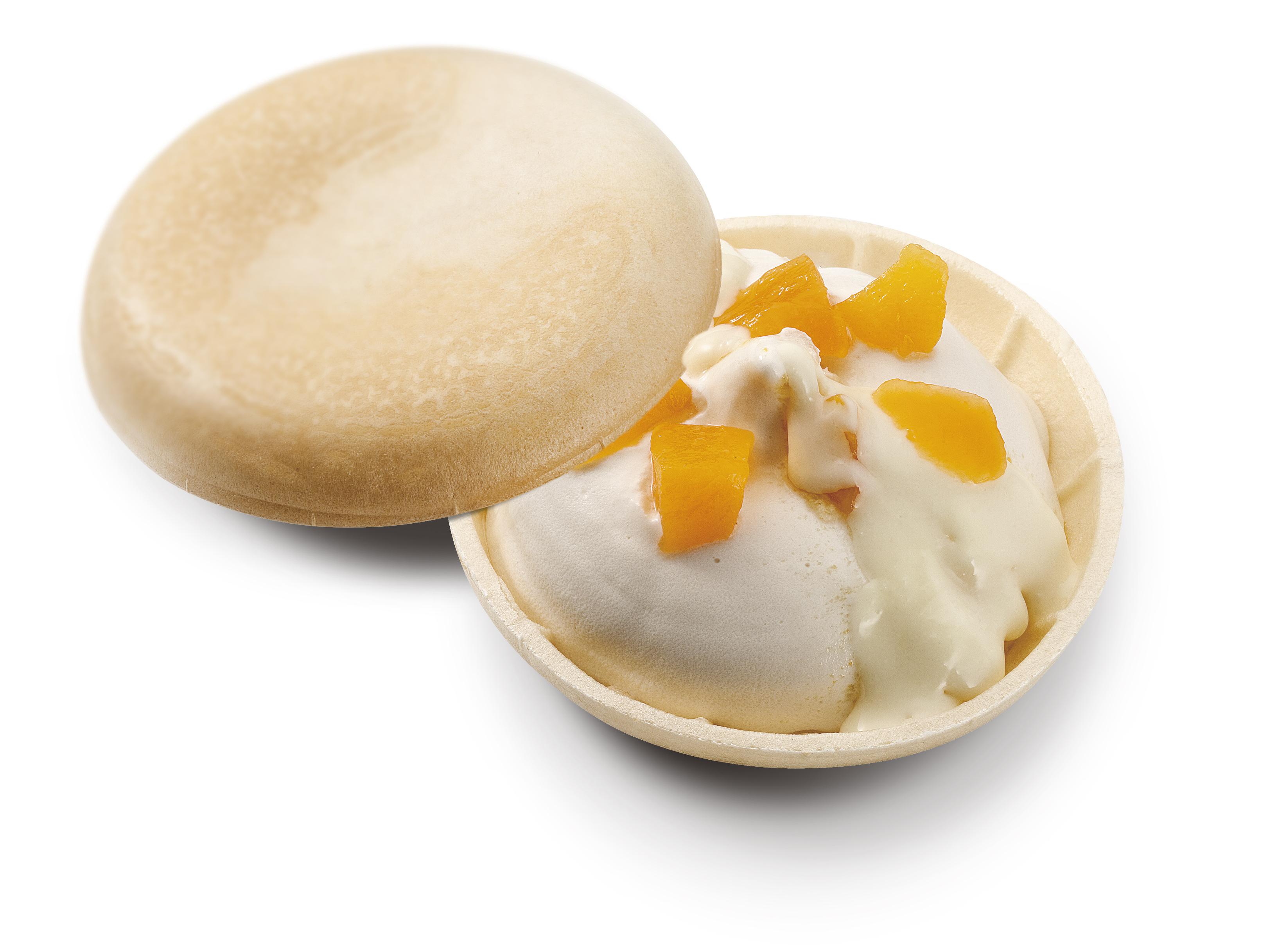 白桃アイス&黄桃&ホワイトチョコ
