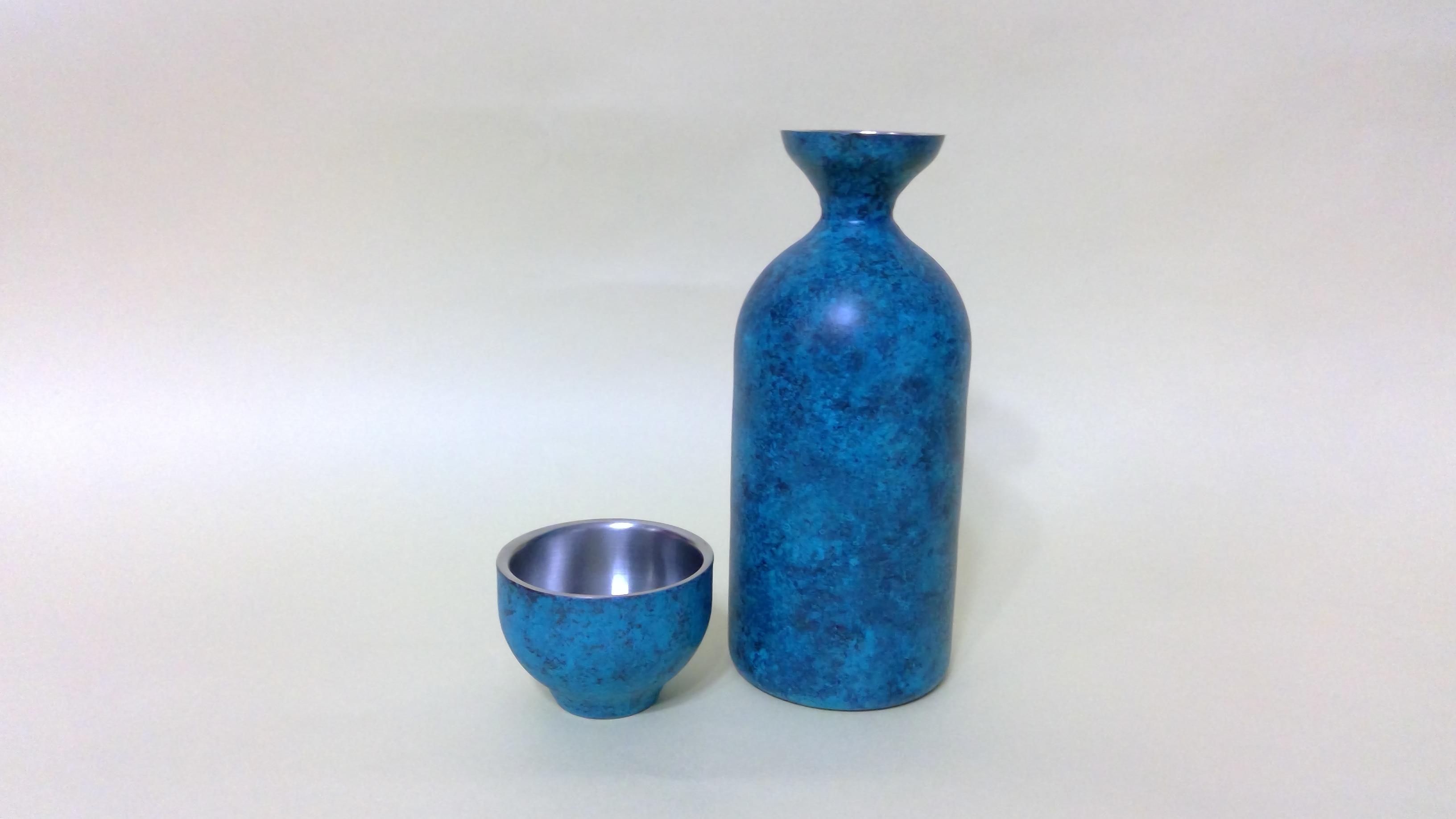 アルチザン 二重構造 徳利1.5合、ぐい呑みセット BLUE CS088001