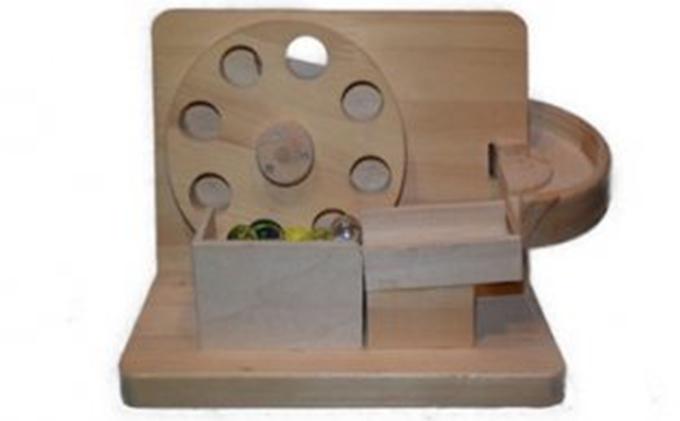 手作り木のおもちゃ お家で工作ミニ円盤トルネード