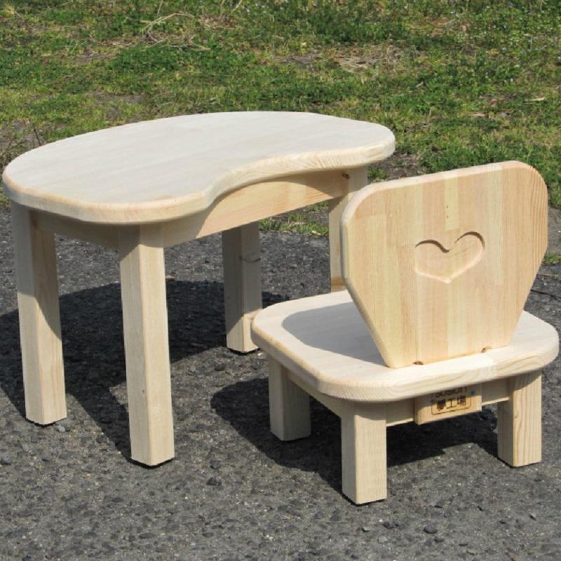 099H081 手作り木製お子様用机・いすセットVer.2 Sサイズ