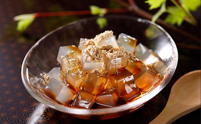 文志郎 磨き水のところてん 黒蜜&きな粉(角切)5箱セット