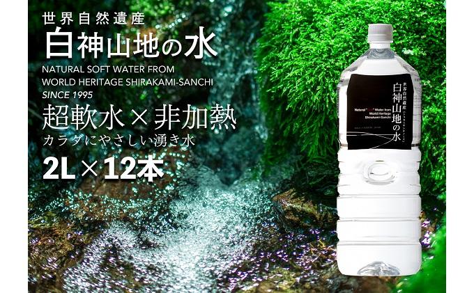 白神山地の水 2L×12本 ナチュラルウォ