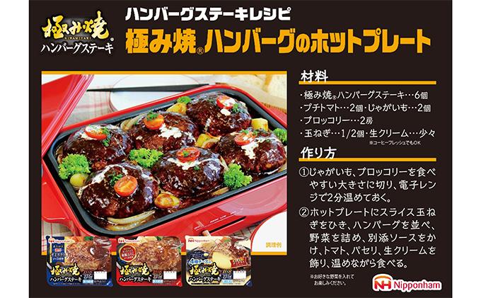 茨城県常総市のふるさと納税 日本ハム 極み焼きハンバーグ 10個セット【配達不可:沖縄・離島】