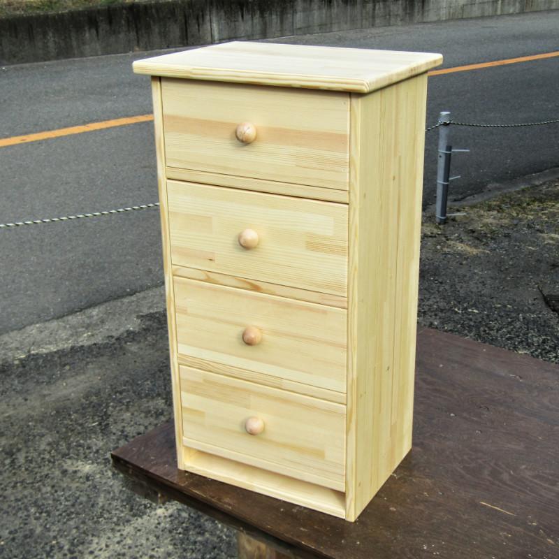 099H218 手作り木製 キャビネット4段