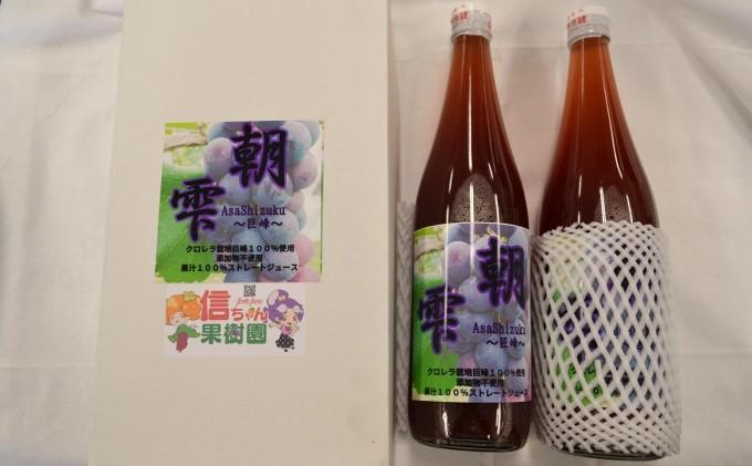 葡萄 農家『信ちゃん果樹園』巨峰 100% ジュース 2本