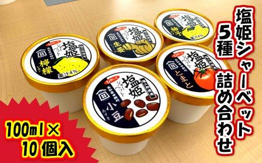 【四国一小さなまち】塩姫シャーベット 5種  詰め合わせセット