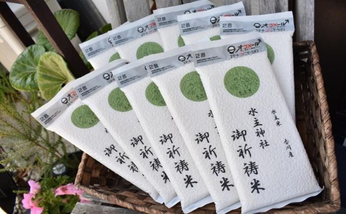 エコファーマーが栽培した令和3年新米のご祈祷米(300g×10袋)