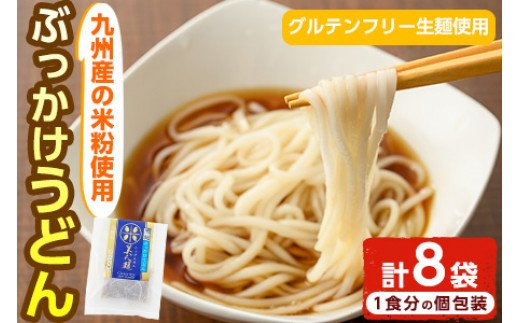 AR-A28 九州産米のぶっかけうどん<グルテンフリー生麺使用>(180g×8袋・計1.4kg)【AR-A28】