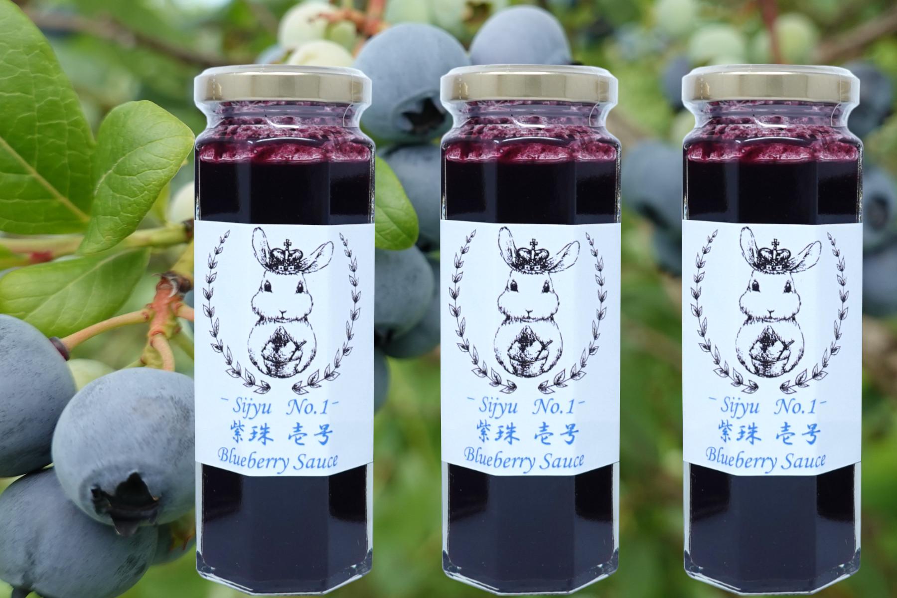 ブルーベリーソース『紫珠 -sijyu- 壱号』(北海道仁木町産)