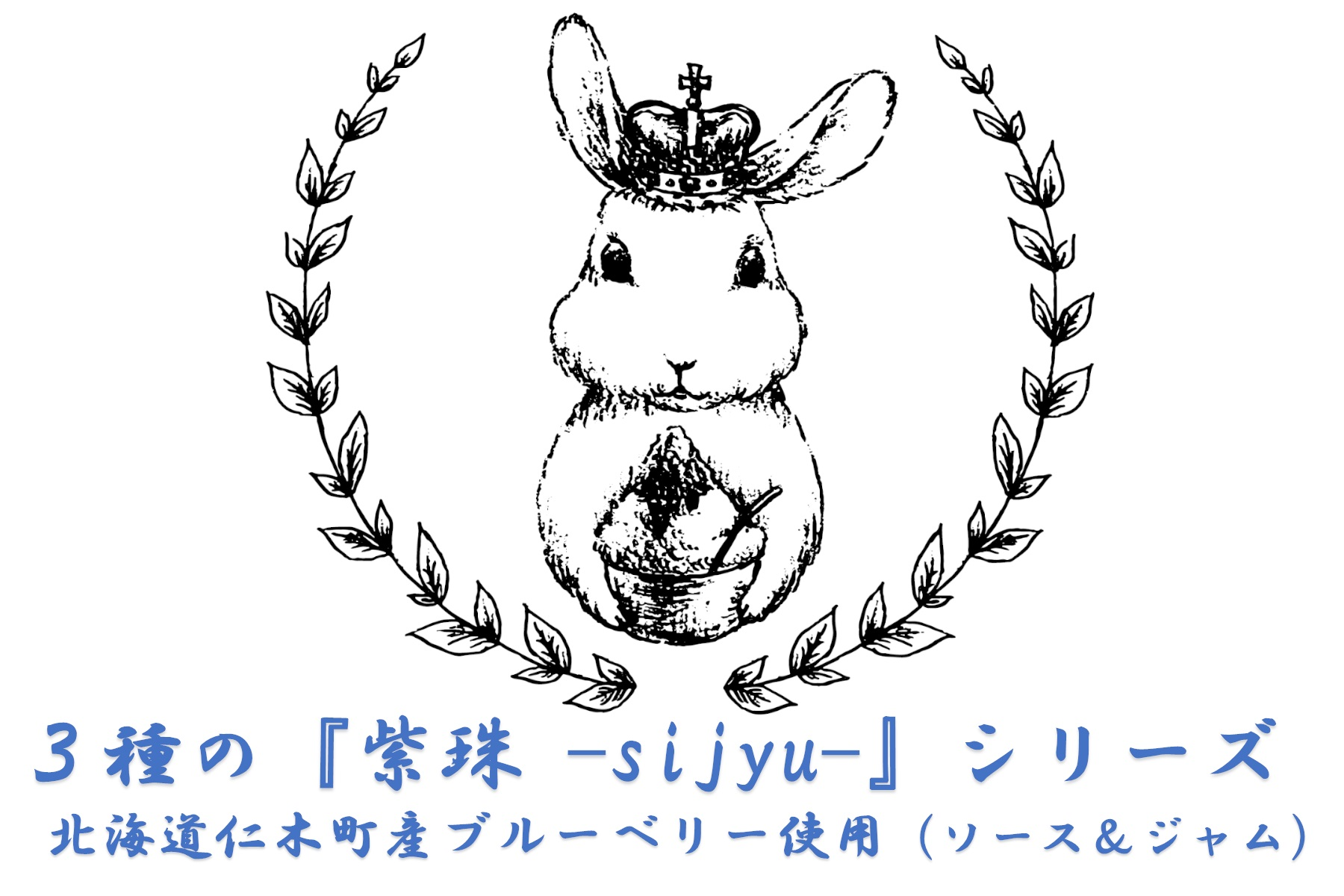 3種のブルーベリーシリーズ『紫珠 -sijyu-』(北海道仁木町産)