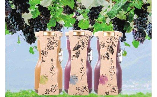 ぶどう100%ジュース!山梨県産のぶどうを皮も種もまるごと使った「食べるぶどうジュース」贅沢コース