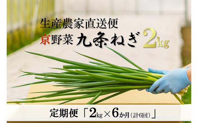 【6か月定期便】生産農家直送 京野菜・九条ねぎ 2kg×6回