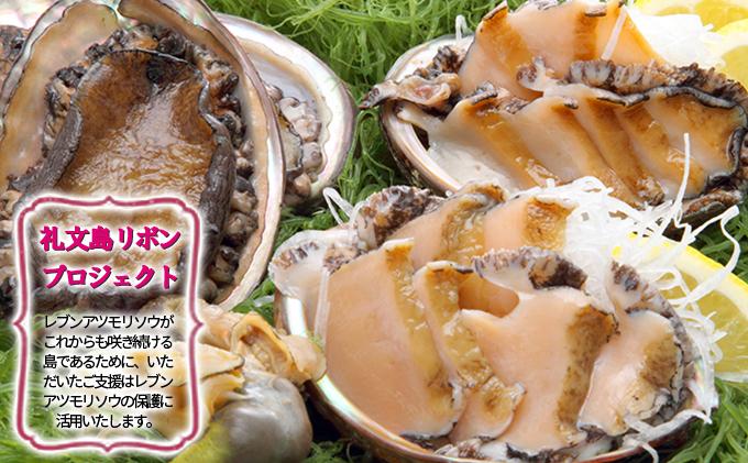 【礼文島リボンプロジェクト】北海道礼文島産 急速冷凍アワビ500g×2