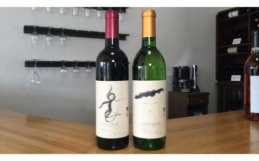 [5839-0047]【山梨県産】楽園ワイン赤・白2本セット