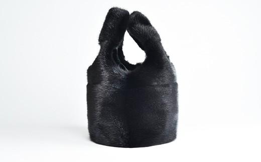 170-32 ミンクオーバルバッグ(ブラック)