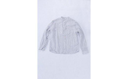 福岡県大木町のふるさと納税 AO022 手染めリネン切替シャツ サイズ1LIGHT GRAY(薄墨染)