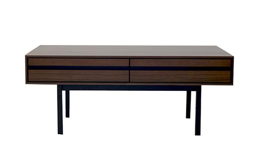 AX010【開梱・設置】ロゼッタ 100cm センターテーブル(ウォールナット)