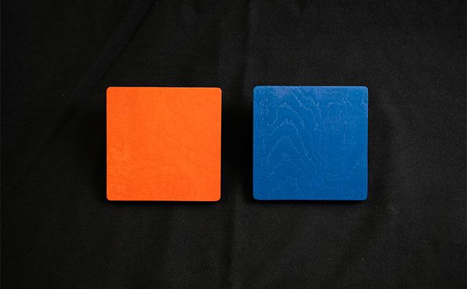 【usiru(ウシル)】漆のコースター2枚セット(マットタイプ)
