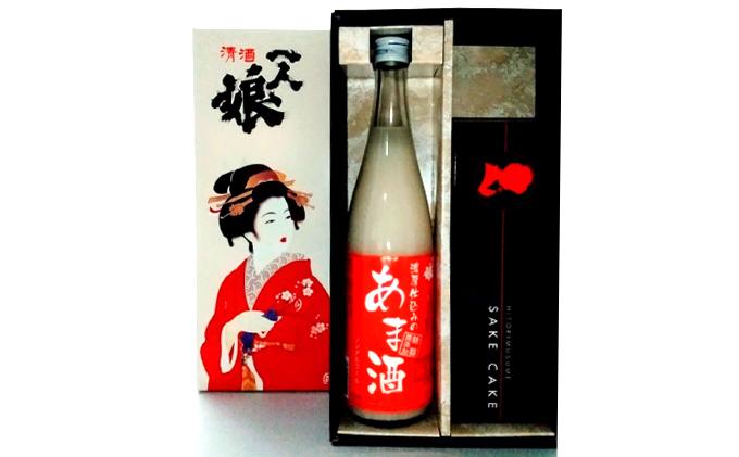 一人娘 日本酒ケーキ・あま酒セット