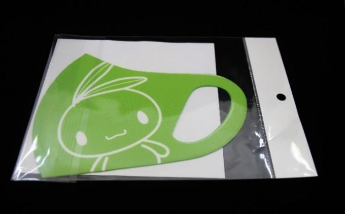 小豆島限定 洗って使える!オリーブしまちゃんマスク(グリーン大人用)2枚セット