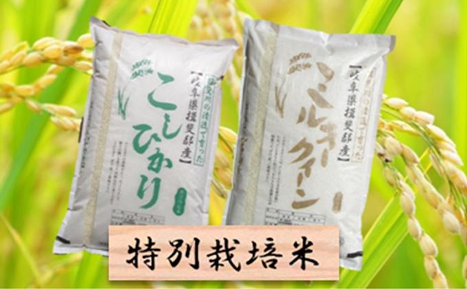 特別栽培米★精米20kg(分搗き可)または玄米22kg【コシヒカリ・ミルキークイーン】