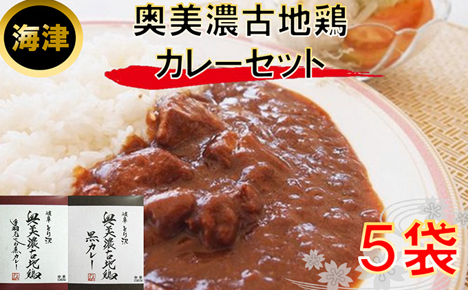 奥美濃古地鶏 カレ−セット(海津)