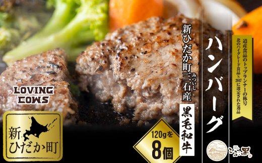 北海道産黒毛和牛【こぶ黒】ハンバーグ8個