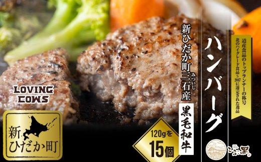 北海道産黒毛和牛【こぶ黒】ハンバーグ15個