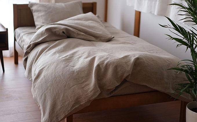 快適すぎる リネン寝具セット 麻 ボックスシーツ(シングル)布団カバー 枕カバー 3点セット
