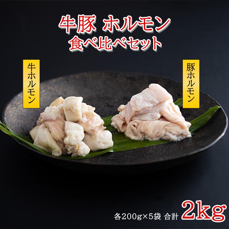 九州産 牛・豚ホルモン 食べ比べセット 2kg
